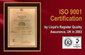 ISO 9001 Certification 2003