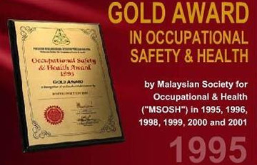 Gold Award in Occupational Safety & Healthy 1995