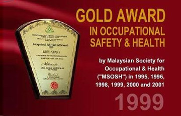 Gold Award in Occupational Safety & Healthy 1999