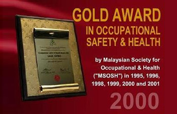 Gold Award in Occupational Safety & Healthy 2000